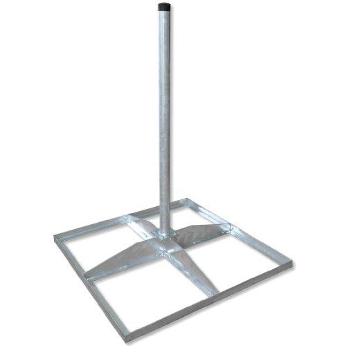 Peuser Flachdachständer STF 48/1000/E400/4fach - Stahl - Rohrlänge 1m - Mastdurchmesser 48mm
