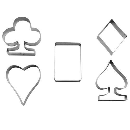 Cutter Sweet 1 Keks - Ausstecher Set Kartenspiel | aus Edelstahl | Kreuz, Pik, Herz und Karo | Pokerspiel