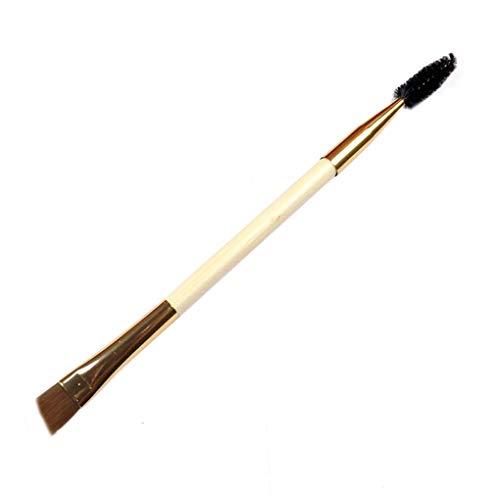 PRENKIN Make-up Outil à Double tête en Bambou Brosse à Sourcils avec Sourcils Peigne Brosse à Sourcils