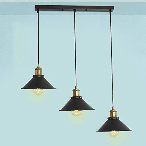 Oursun Industrial Lámpara de Techo, Vintage Lámparas Colga