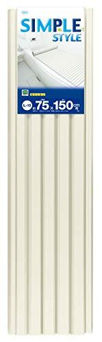 オーエ ポリプロ 風呂ふた アイボリー 幅75×長さ150cm シンプルスタイル 軽量 防カビ加工 L-15
