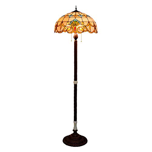 Stijlvolle 50 cm grote salon barokke lamp in Amerikaanse barokstijl Tiffany Macchiato glazen lamp Jade-glas staand Villa antiekkamer klassieke Jade lampad