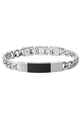 Fossil JF03315040 Herren Armband Silber Schwarz 21,5 cm