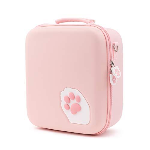 GeekShare - Funda para Nintendo Switch, diseño de huellas de gato, color rosa