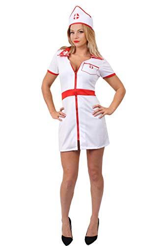 I LOVE FANCY DRESS LTD Erwachsenen SEXY Krankenschwester KOSTÜM - Krankenschwester Kleid UND PASSENDER Hut - PERFEKT FÜR KOSTÜMPARTYS UND Halloween-KOSTÜME (X-GROẞ)