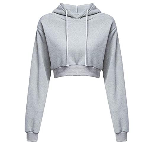 Women's Hooded Sweatshirt Spring Long Sleeve Short Black