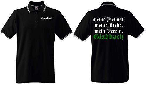 Gladbach Herren Polo-Retro Ultras Meine Heimat, Liebe, Mein Verein
