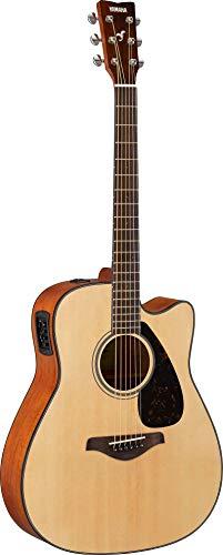 Yamaha FGX800C Folk Cutaway Acoustic-Electric Guitar w/Gig Bag and Stand