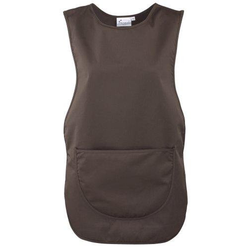 Premier Damen Arbeitsschürze mit Tasche (Medium) (Braun)