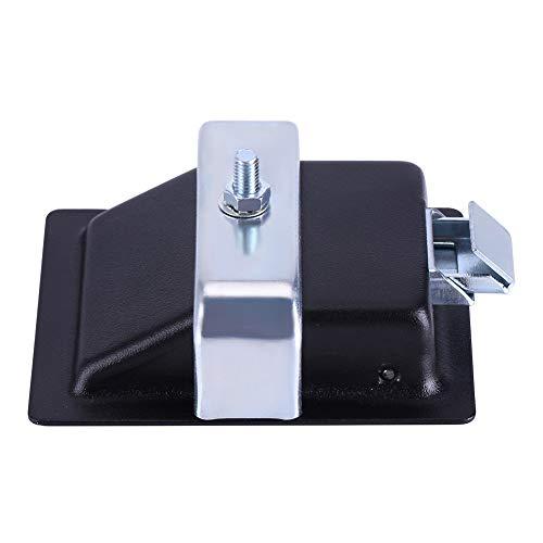 Cerradura de Seguridad, Acero al Carbono eléctrico y aleación de Zinc Fabricada con dureza de aleación (Negro)