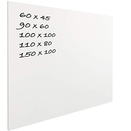 Vivol Eco Magnetic Whiteboard 110x80 | Rahmenlos Design | Magnettafel Whiteboardwand Magnetwand | ohne Rahmen | 5 Größen | Hoch- und Querformat