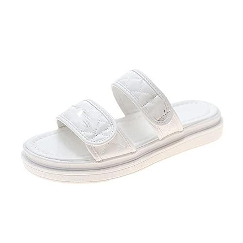 Zapatillas antideslizantes para mujer y hombre, pegatinas mágicas, arena, zapatillas; blanco_40, lippers para mujeres/hombres antideslizantes