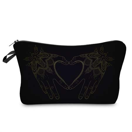 Cosmetic Organizer Bag Make Up Printing Love Cosmetic Bag Fashion Women Brand Makeup Bag hzb918