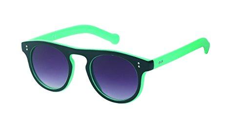 Hochwertige Sonnenbrille rund John Lennon Style Punkte Vintage 400UV Panto schwarz Muster türkis