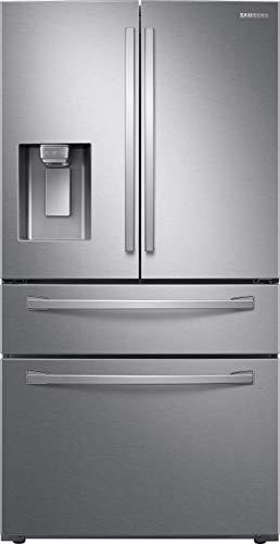 Samsung RF24R7201SR Freestanding American Fridge Freezer With Ice And Water Dispenser - Silver