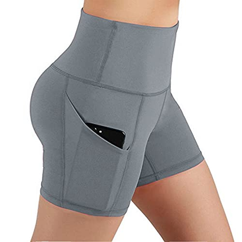 CHUNT Pantalones De Yoga con Bolsillo Leggings De Fitness Suaves EláSticos Cintura Alta para Reducir Vientre...
