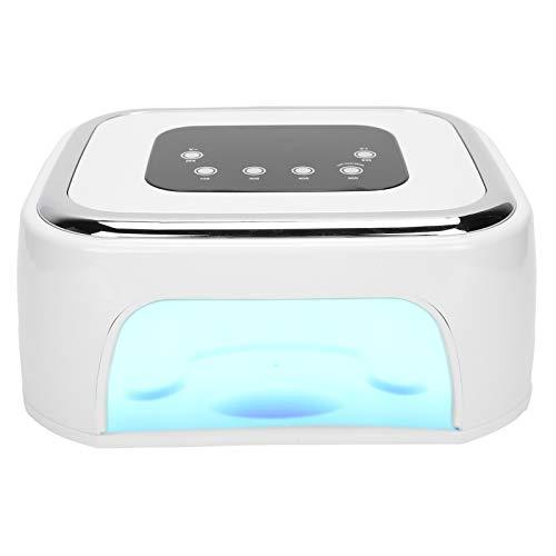 Uv-led-nagellamp, 80w led-nageldroger voor gellak met automatische sensor/4 timer-instelling, professionele nagelkunstgereedschap voor vingernagel en teennagel(EU-stekker)