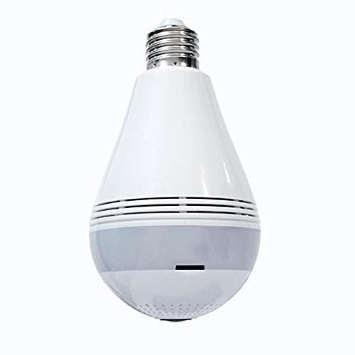 Cámara De Seguridad Con Bombilla WiFi 1080P HD, Bombilla De Cámara IP De Ojo De Pez Panorámica Inalámbrica De 360 Grados, Lámpara De Cámara De Luz LED De 2MP Con Detección De Movimiento De Visión Noct