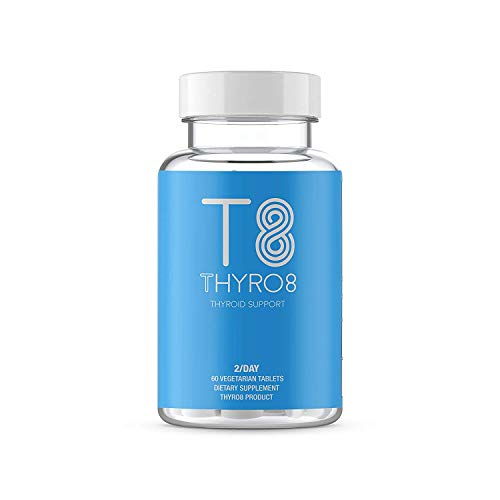 Thyroid Support Supplement Thyro8 T8 With Iodine - Natural Feel Better Formula For Improved Focus & Better Energy - 60 Pills