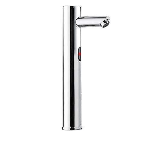 Lavabo sobre encimera, grifo con sensor automático, lavamanos inteligente para baño comercial, frío y calor individuales
