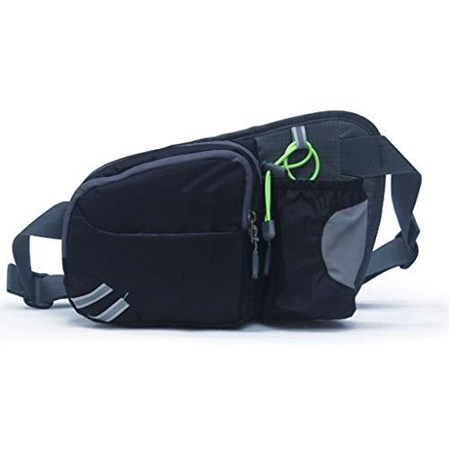 WWWW Fitness sporttas outdoor running pockets sport taille tas stof waterdicht slijtvast scheurvast 24×15×7cm reflecterend ontwerp sporttas