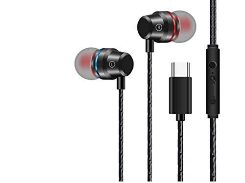 Auriculares Tipo-C USB Tipo C Auriculares Control con Cable con micrófono Auriculares estéreo