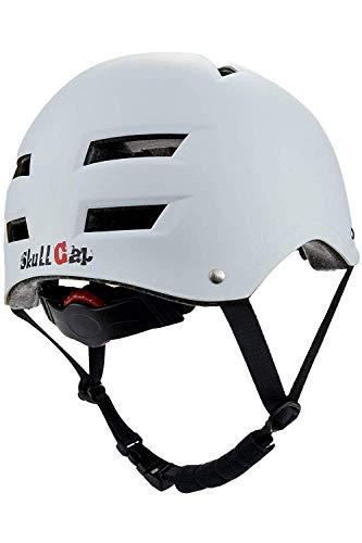 Skullcap® BMX Helm - Weißer Skaterhelm - Fahrradhelm - Herren | Damen | Jungs & Kinderhelm Gr. L (58 – 61 cm), White Line