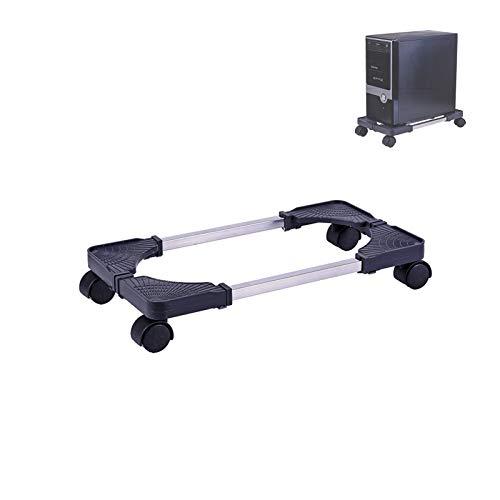 Blissgo Soporte para CPU móvil, soporte ajustable para computadora con ruedas de bloqueo, color negro