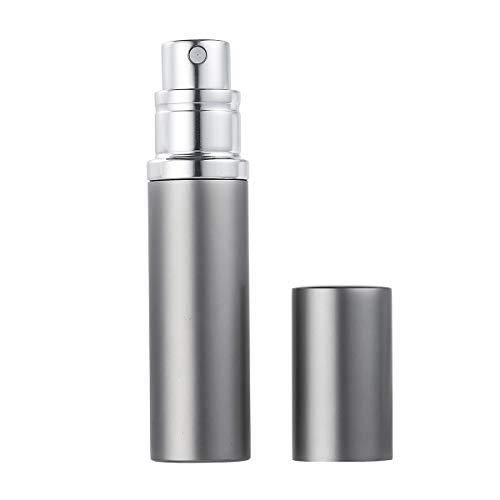 AsaNana Parfümzerstäuber nachfüllbar, Befülltechnik ohne Trichter leer Parfüm Zerstäuber Sprühflasche für Reise Handtasche unterwegs - 5ml (Gray)