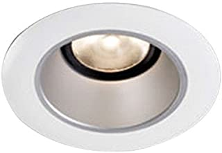 Lightolier L3RBW 3 Inch Down Light White Baffle Trim Round White Flange Lytecaster