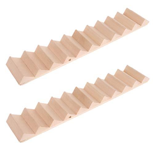 2 Stücke1/12 Puppenhaus Miniatur Holztreppe Treppen ohne Handlauf Möbel Modell