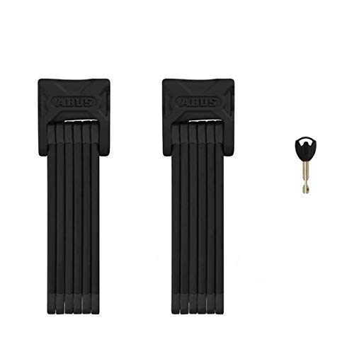 ABUS Bordo 6000 SH Twinset Bicycle Lock, Black, 90 cm