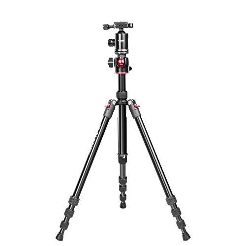 Digitek DTR 520 BH (60 Inch) Professional Aluminum Tripod Cum Monopod with Swivel Pan Head, for DSLR Camera | Maximum Operating Height: 4.95 Feet | Maximum Load Upto: 7kgs (Black) (DTR 520 BH)