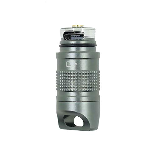 YUTRD ZCJUX Super Pindel Lantern Pocket Mini LED Flashlight USB Recargable Portátil Portátil Impermeable Llavero Blanco Llavero Antorcha