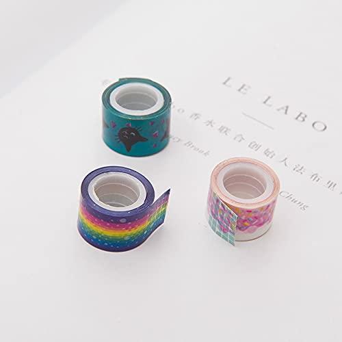 ZZHH 3 unids/Lote Lindo Mini Dibujos Animados DIY Cinta Decorativa Vahi Scrapbook Cinta Decorativa Papel papelería Pegatinas