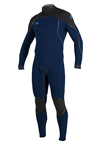 ONeill Psycho One 5/4MM Winter Cold Water Winter Cold Weather Back Zip Wetsuit Abyss Black - Easy Stretch & Lightweight