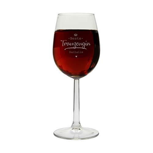 Trauzeuge Geschenk Weinglas Gravur | Geschenkidee Trauzeuge, Trauzeugin, bester Freund, beste Freundin, Bruder, Schwester | Geschenk | Danke (Beste Trauzeugin)