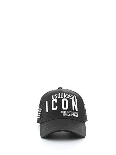 DSQUARED2 CAPPELLO BASEBALL CAP DA UOMO NERO BCM029005C00001M063