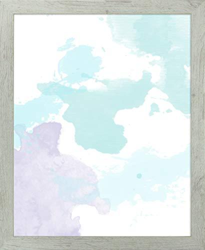 Misano rand fotolijst 21,7x29,5 Inch (55 x 75 cm) met Antireflecterende kunststof glas Perspex 29,5x21,7 Inch fotolijst Robuuste eiken Decor