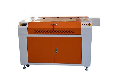 100W CO2 Laser Graviermaschine 900x600mm with Rotary Axis + CW3000 Wasserkühler