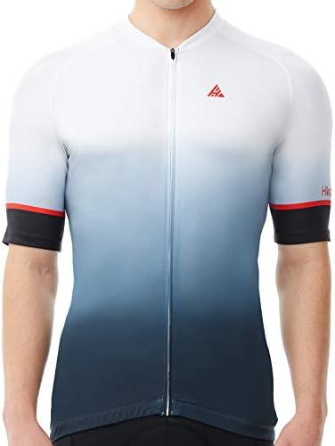 Hikenture Cycling Jersey Mens Short Sleeve Bike Shirts Full Zipper Mountain Biking Clothes with product image