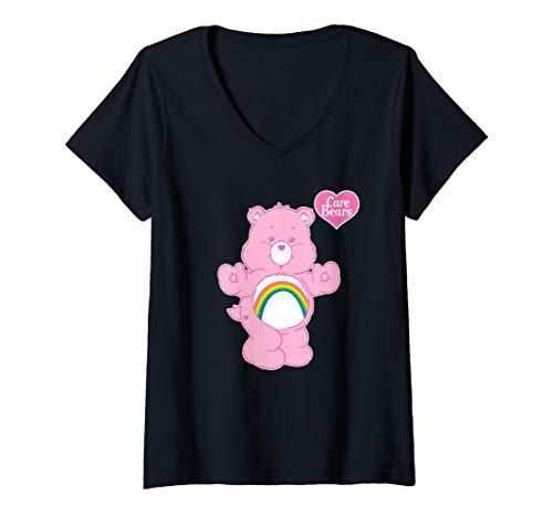 Womens Care Bears Cheer Bear V-Neck T-Shirt