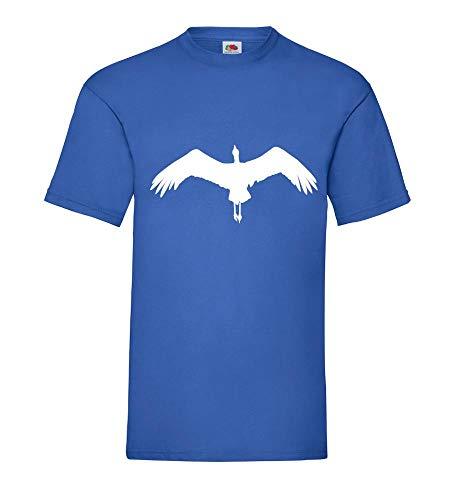 Fliegender Storch Männer T-Shirt Royal Blau 3XL - shirt84.de