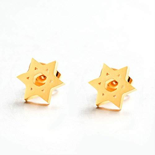 Épingles d'oreille Mini Star Of David Stud boucle d'oreille cadeau doré Hexagram Studs boucles d'oreilles femmes cadeausimple