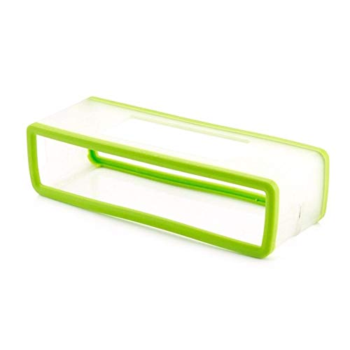 SSSabsir Portable Silicone Case for Bose SoundLink Mini 1 2 Sound Link I II Bluetooth Speaker Protector Cover Skin Box Speakers Pouch Bag Fluorescent green