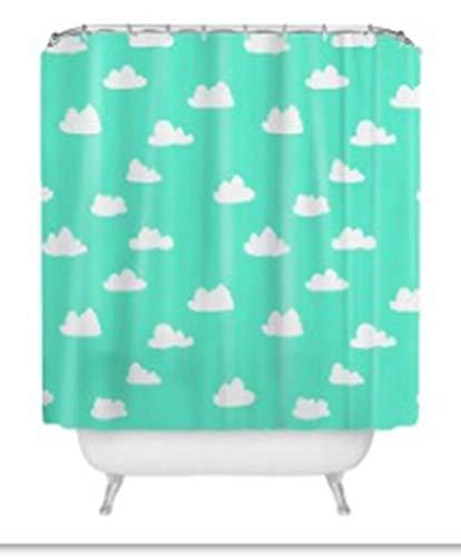 n Nuvens Sweetenlife Cactus planta padrão Banheiro Cortina de Chuveiro de Poliéster Tecido de Tela de Banho Cortinas de Banho À Prova D' Água Por Atacado