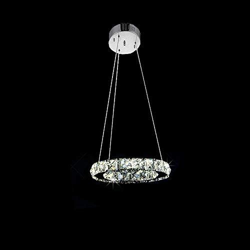 Moderna LED Appeso Cristallo Cerchio di Luce 1 Anello Lampadario a Sospensione(Bianco freddo)