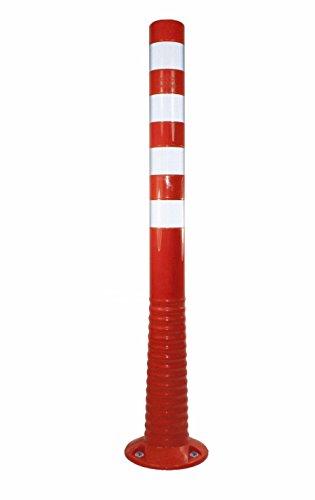 UvV®-Reflex Absperrpfosten, Poller 100 cm hoch, flexibel orange, reflektierend, selbstaufrichtend inkl. Befestigung