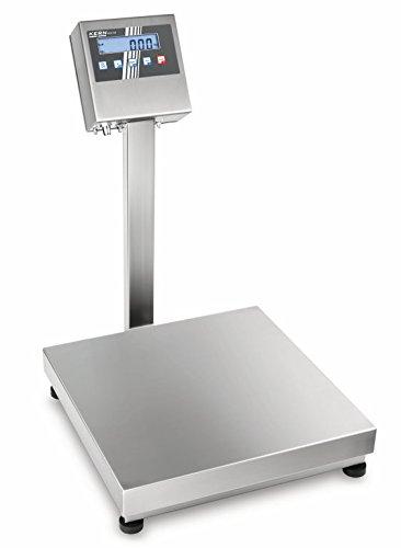 Robusta balanza de plataforma de acero inoxidable con autorización ATEX (ATEX) [Kern OEX 60K-2HMEU] para utilizar en zonas con riesgo de explosión, Campo de pesaje [Max]: 60 kg, Lectura [d]: 20 g