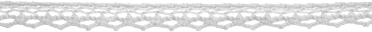 5M Cream Dressmaking Design 34C - 8mm Wide x 1 Reel Plush Addict Vintage Cotton Lace Trim Ribbons for Sewing Embellishing and Crafts